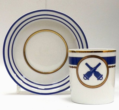 Чашка с блюдцем Кают-компания №6, ф. Гербовая ИФЗ 81.21409.00.1