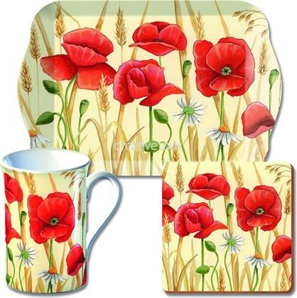 Чайный набор Creative Tops Красные Маки, 300мл, 3 предмета GS7/1627