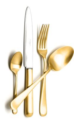 Набор столовых приборов Cutipol Atlantico Matte Gold, 24 предмета, матовое золото 9202