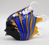 Фигурка стеклянная Скалярия полосатая 14x11см Top Art Studio ZB1514-TA