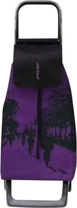 Сумка-тележка хозяйственная фиолетово-чёрная Rolser JOY JET JET016malva