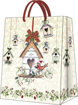 """Пакет подарочный """"Зимний дом"""" 26.5x33.5x13см Paw AGB029005"""