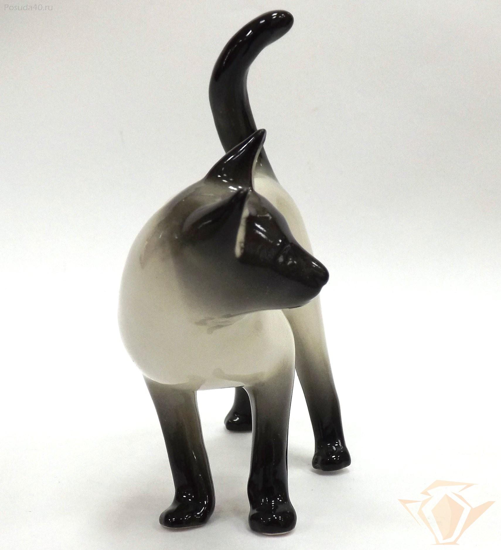 фигурка кошки гусь хрустальный фото