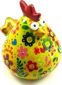 Копилка Цыпленок MATILDA желтая в цветочек Pomme-Pidou 148-00193/2