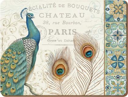Подставки на пробке Парижский павлин 40х29см, 4шт Creative Tops 5164353