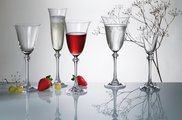 Фужеры для вина Александра 185 мл, 6 шт. Crystalite Bohemia 1SD70/185