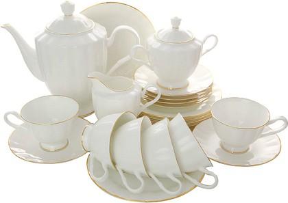 Сервиз чайный ИФЗ Нега, Золотая лента, 21 предмет 81.20570.00.1