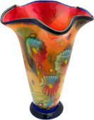 Ваза из цветного стекла 42см Top Art Studio ZB2176-TA