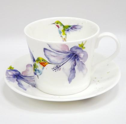 Чайная пара Roy Kirkham Колибри в цветах, 500мл XHUM1114