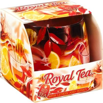 """Bartek Candles ROYAL TEA Свеча в стакане """"Королевский чай"""", 80х75мм"""