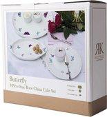 Набор тарелок для торта Roy Kirkham Бабочки, 8 предметов XBUTT1134BOXED