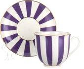 Чашка с блюдцем ИФЗ Ландыш, Да и Нет, фиолетовый 81.23056.00.1