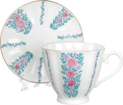 Чашка с блюдцем ИФЗ Гвоздика, Маргаритки 81.14018.00.1