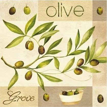 "Paw OLIVE GARDEN Салфетки ""Оливковый сад"", 33х33см, 3 слоя, 20шт., артикул SDL004600"