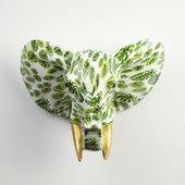 Фигура на стену Слон Джим свежие папоротники Pomme-Pidou 148-00259