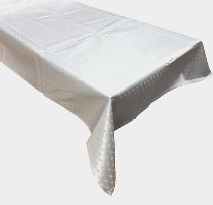 Скатерть квадратная Кобальтовая сетка 145x145 белая ИФЗ 14.01103.02