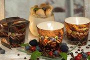 Свеча декоративная Bartek Candles Время Кофе, стакан 5901685035200