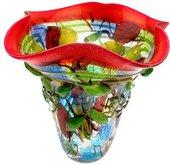 Ваза Top Art Studio Фьюжн 35см, цветное стекло ZB2655-AG