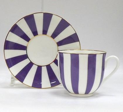 Чашка с блюдцем «Да и нет» (фиолетовый), ф. Ландыш ИФЗ 81.23056.00.1