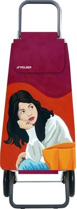 Сумка-тележка Rolser Face, 2 колеса, складная, красная с рисунком PAC092rojo/joana