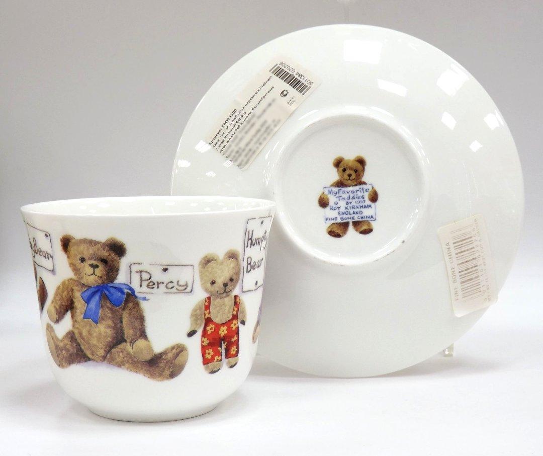 Фарфоровая чайная пара Мои любимые медвежата от Roy Kirkham из ассортимента магазина Posuda40.ru