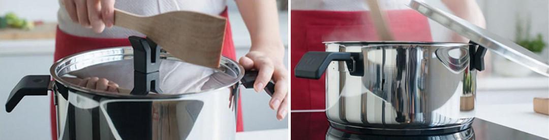 Ручки-держатели на крышках посуды Chrono от Beka