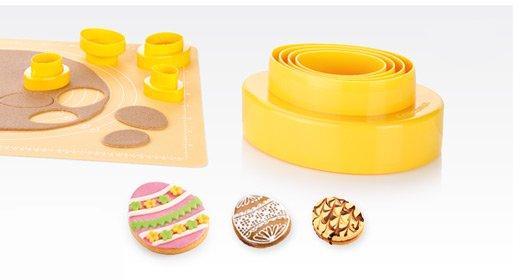 Двухсторонние формочки DELICIA для приготовления печенья в форме яиц, из ассортимента новинок марта 2015 года