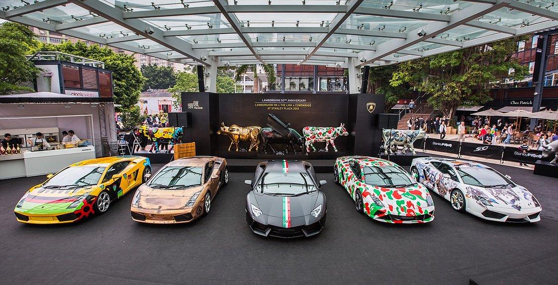 Cow Parade и Lamborghini в Гонконге 2013