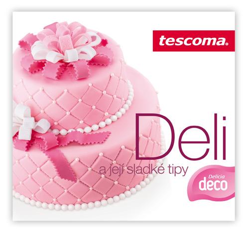 Торт, украшенный с помощью посыпки, дозатора и других инструментов и средств DELICIA DECO от Tescoma