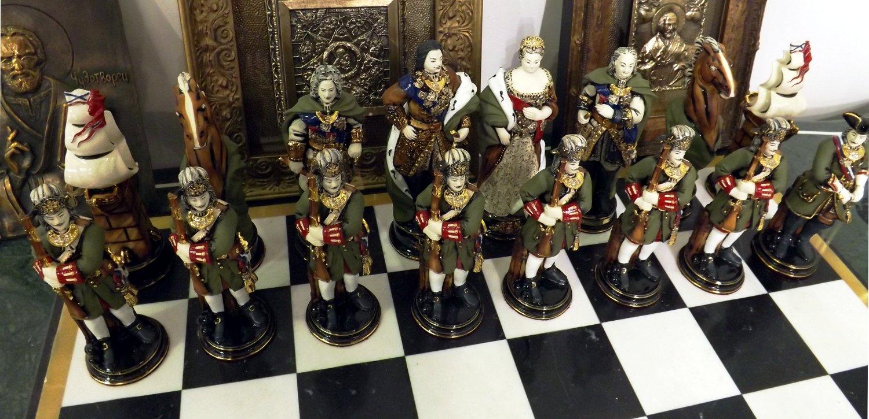Коллекционные шахматы. Выставка HouseHold Expo в Москве, сентябрь 2013 г.