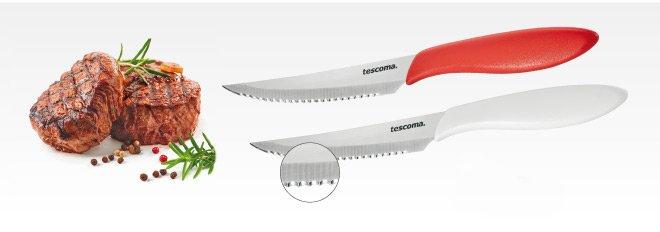 Столовые ножи PRESTO для стейков с длиной лезвия 12 см, представленные специалистами Tescoma в марте 2017 года