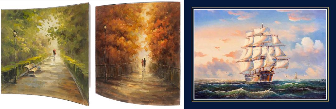Картины и подставка под тарелки