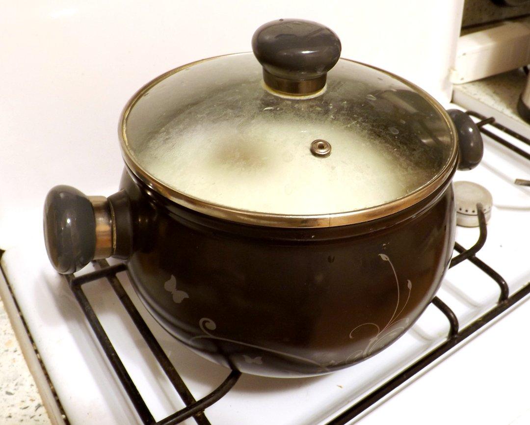 Молоко и кефир во время створаживания в нагретой керамической кастрюле PREMIERE от Ceraflame