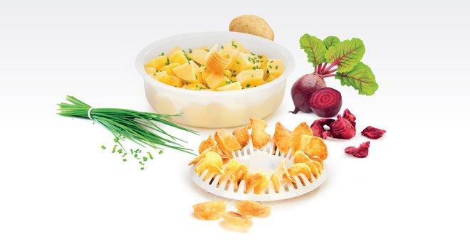 Набор PURITY для приготовления блюд из картофеля в микроволновых печах, представленный специалистами Tescoma в июне 2017 года