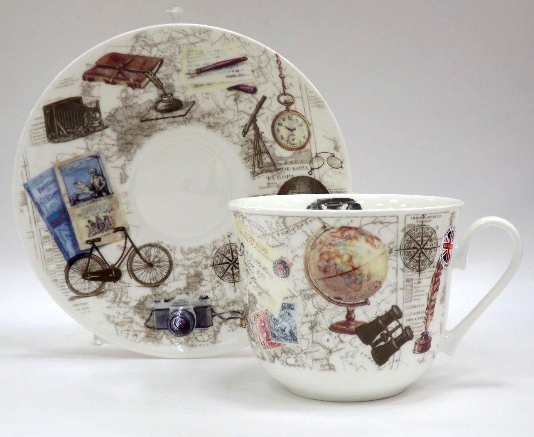 Фарфоровая чайная чашка с блюдцем Из прошлого от Roy Kirkham из ассортимента магазина Posuda40.ru