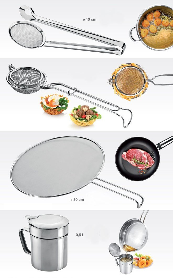 Принадлежности GrandCHEF для любителей блюд во фритюре и для безопасной жарки, представленные специалистами Tescoma в апреле 2017 года