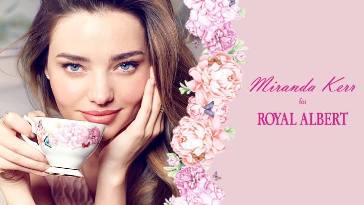 Миранда Керр и продукция Royal Albert
