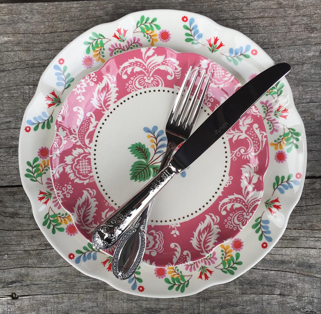 Фарфоровые тарелки FESTIVAL FOLK от Creative Tops