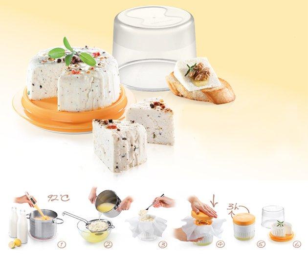 Набор DELLA CASA от Tescoma для приготовления домашнего сыра, представленный в апреле 2016 года