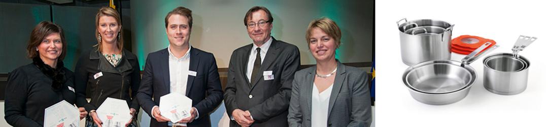 Получение награды Henry van de Velde Labels 2013 и посуда Nest от Beka