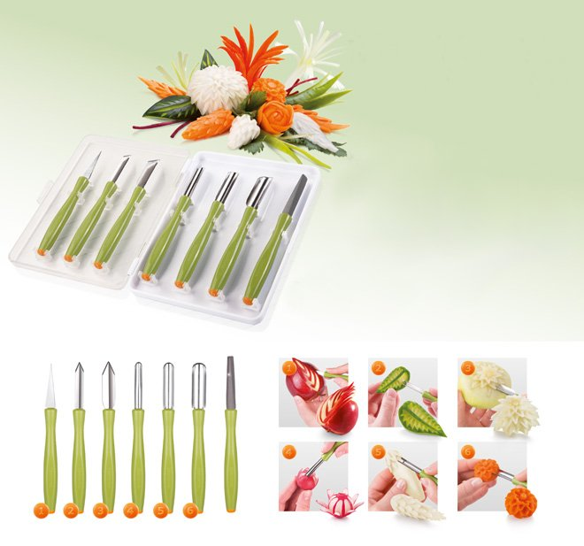 Набор инструментов PRESTO CARVING для резки по овощам и фруктам, из ассортимента Tescoma (июль-август 2015 г.)