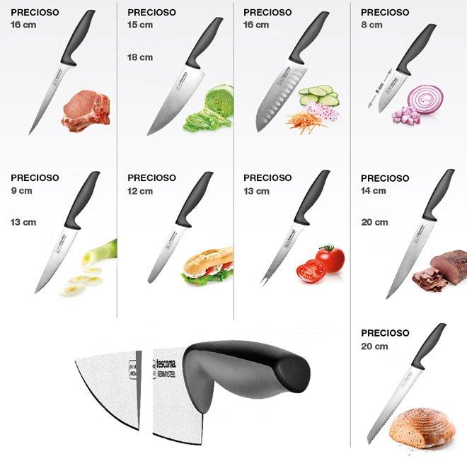 Кухонные ножи PRECIOSO из немецкой стали от Tescoma, представленные в мае 2016 года