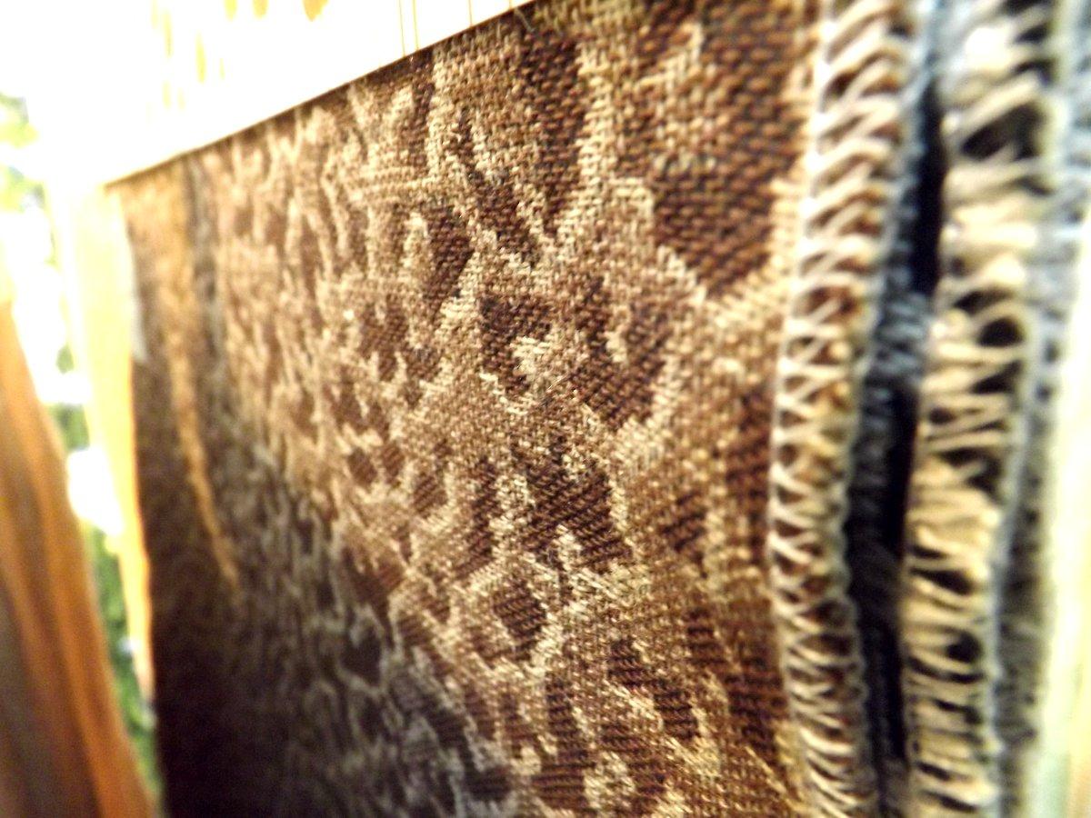 Образцы тканей Оршанского льнокомбината на экспозиции бренда Белорусский лён во время весенней выставки HouseHoldExpo 2015. Вид А