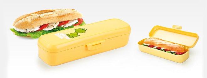 Продолговатый контейнер для бутерброда DINO от Tescoma, представленный в марте 2016 года