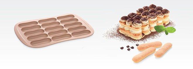 Силиконовая форма DELLA CASA для бисквитного печенья в форме палочек от Tescoma, представленная в феврале 2017 года