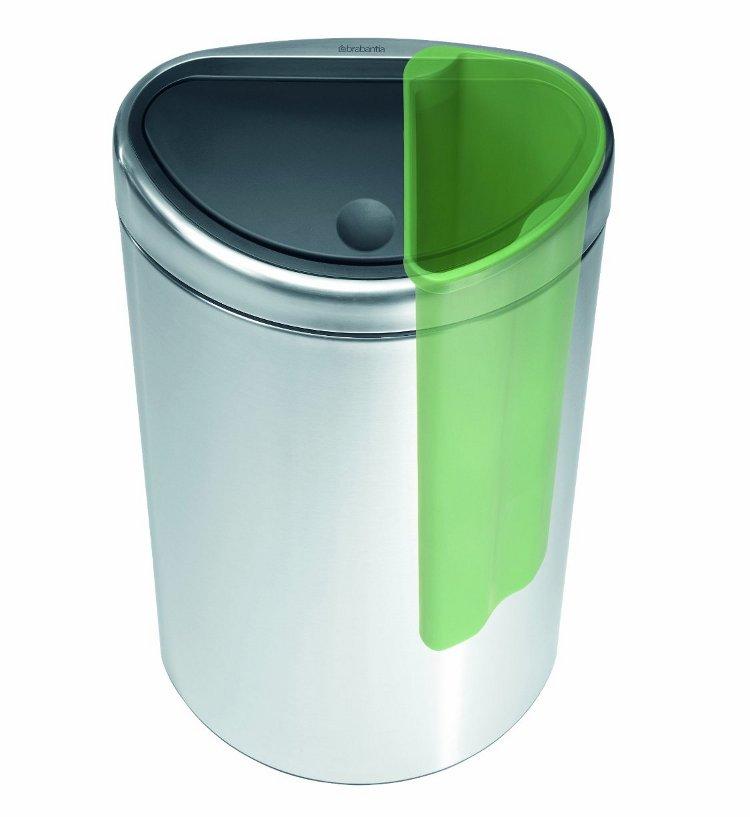 Иллюстрация к статье о компостировании с помощью быстроразлагаемых мешков от Brabantia: мусорный бак с двумя отделами. Вид Б
