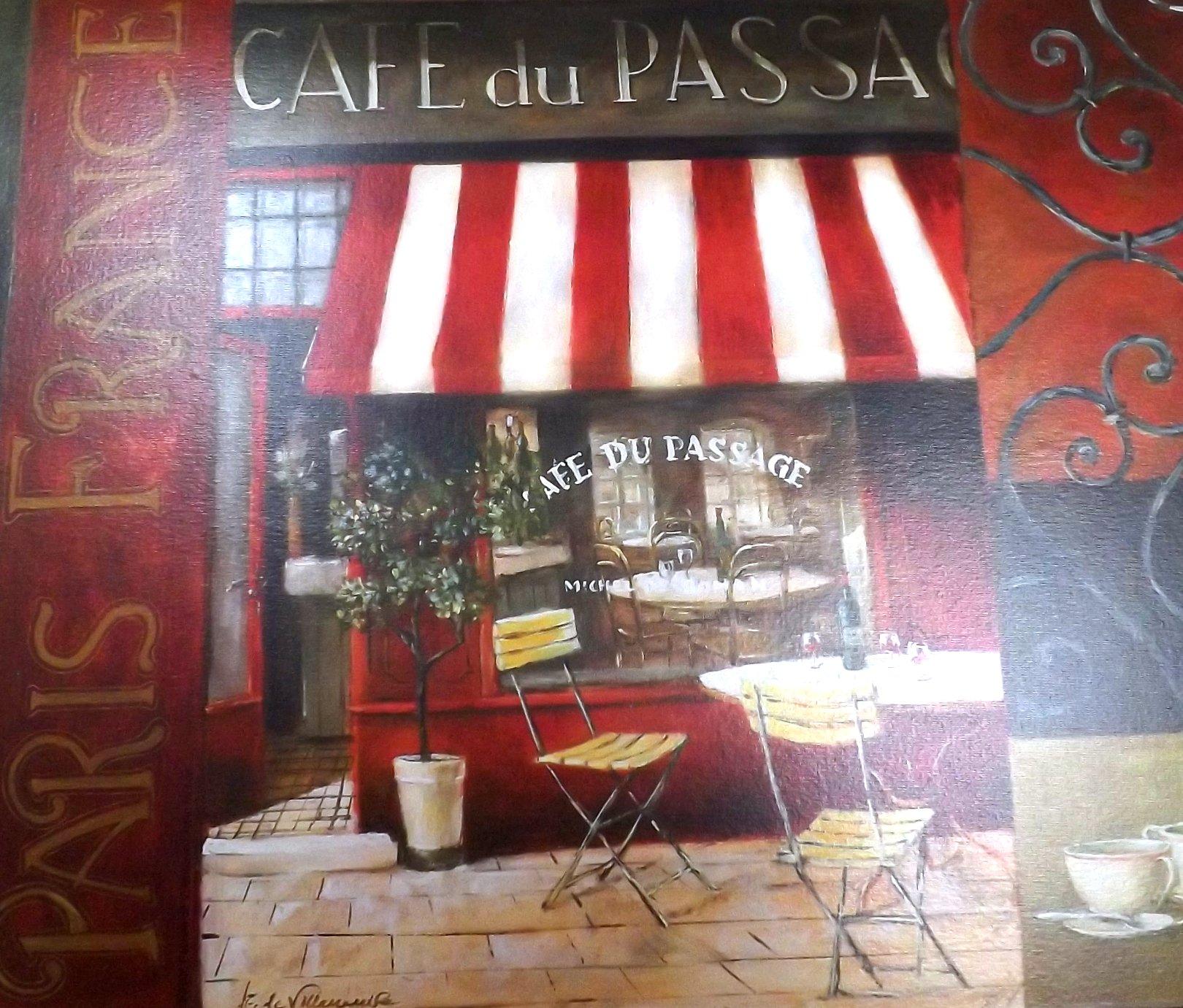 Подставка на основе пробкового дерева с изображением фасада французского кафе от Creative Tops