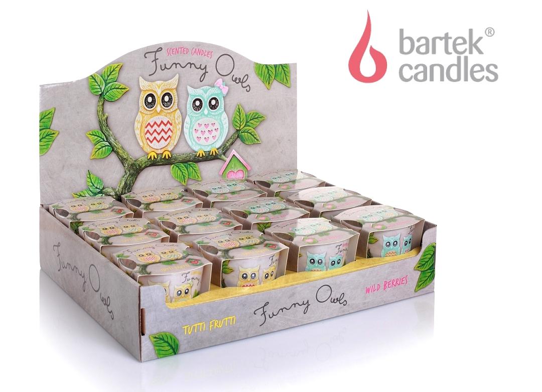 Упаковка свечей Смешные совы от Bartek Candles