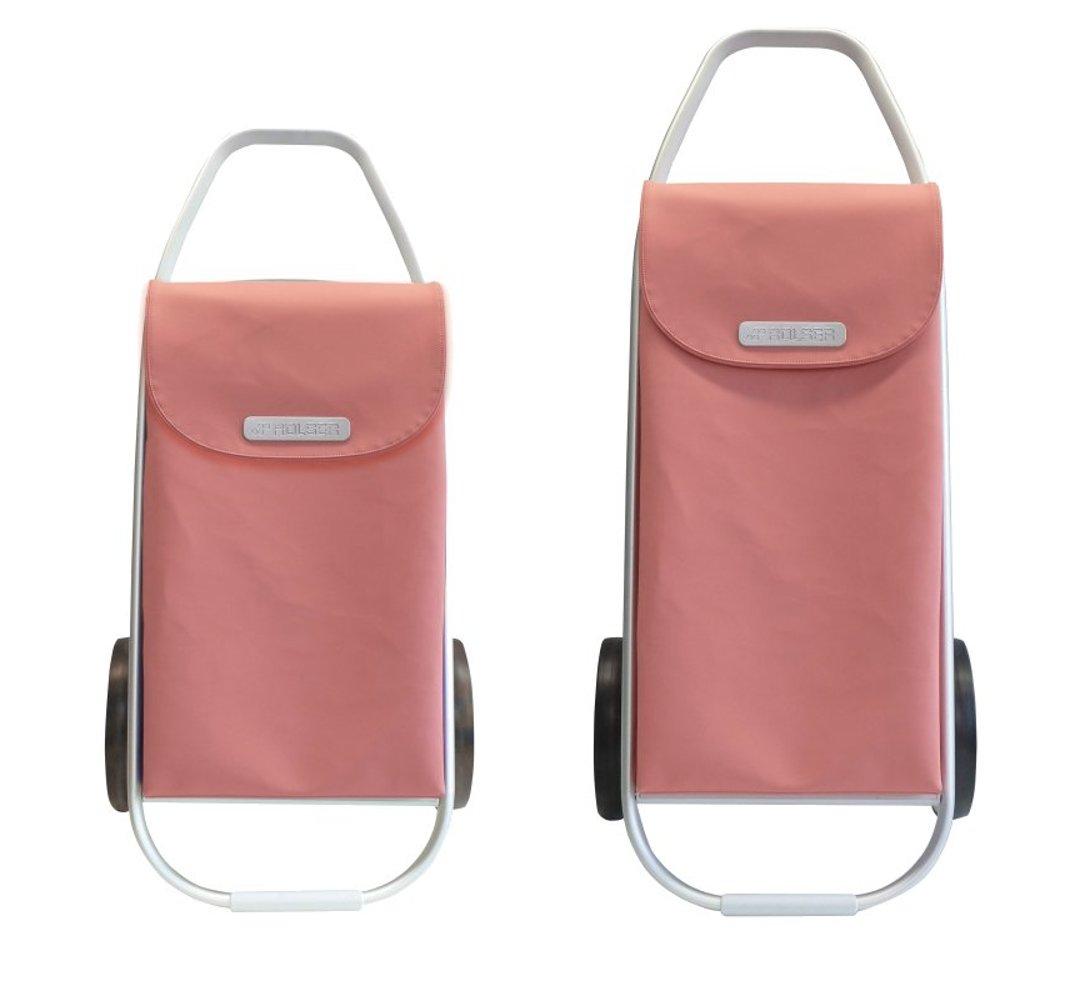 Сравнительная иллюстрация сумки-тележки Rolser из коллекции M COM M8 образца 2016 года (слева) и сумки-тележки из коллекции COM 8 образца 2015 года