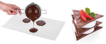 Шоколадные изделия, созданные с использованием шаблонов DELICIA DECO